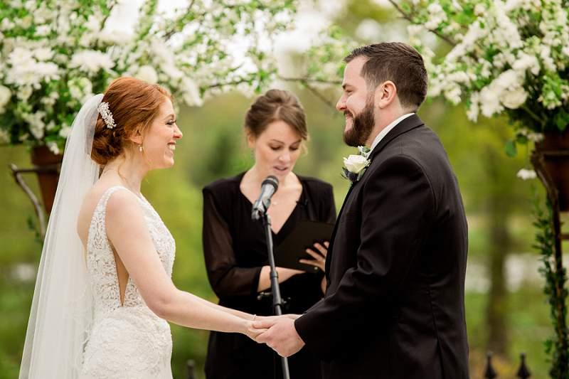 park savoy wedding ceremony in April