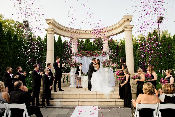 rockleigh country club ceremony confetti
