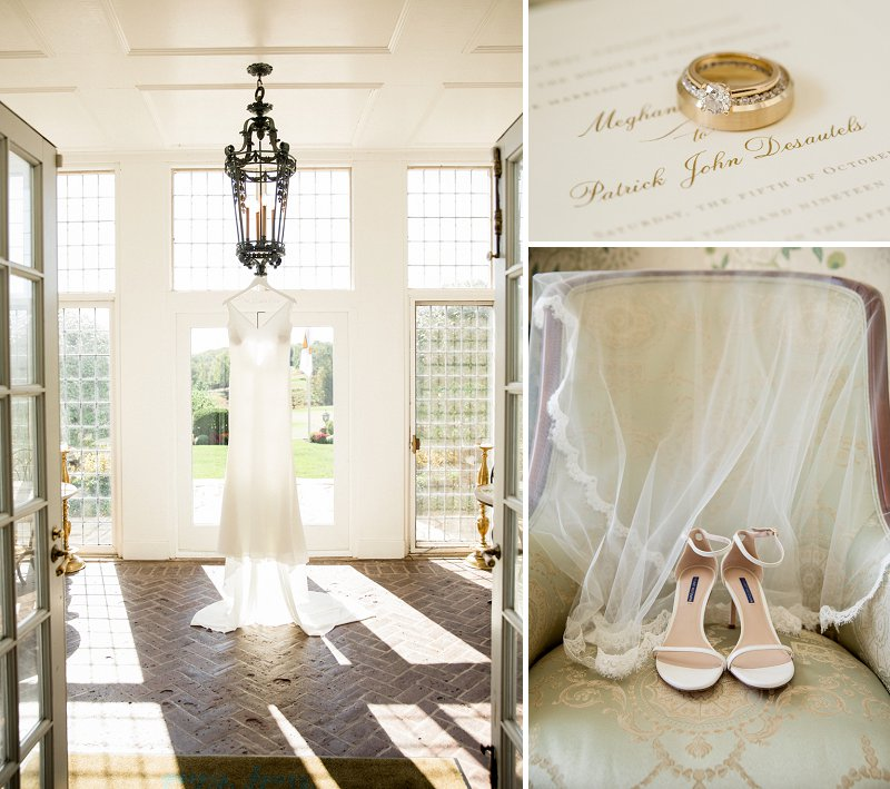 Fall wedding at hamilton farm golf club