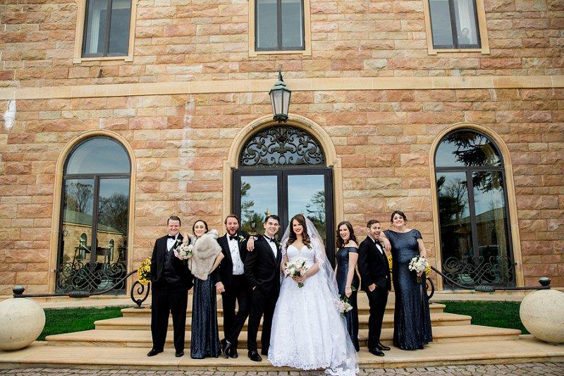 bridal party photos at TPC Jasana Polana