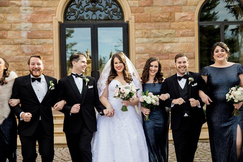 Fall wedding photos at TPC Jasana Polana