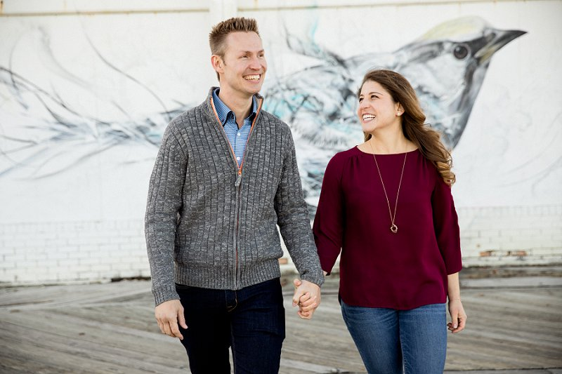 engagement session ideas for asbury park boardwalk