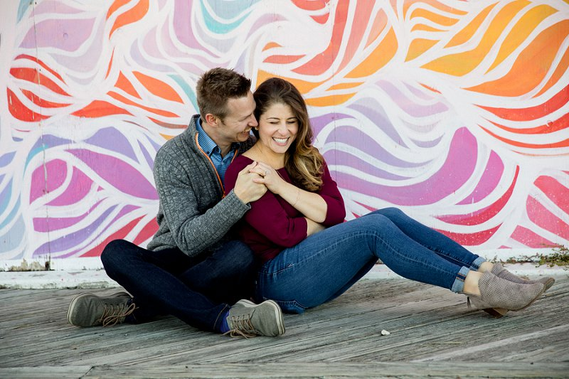 asbury park boardwalk engagement session ideas
