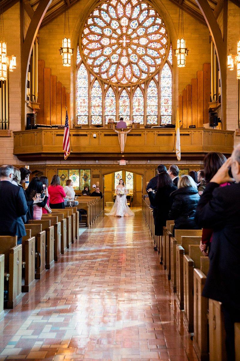princeton nj wedding ceremony bride entering the church