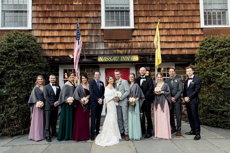 winter wedding in princeton nj at nassau inn