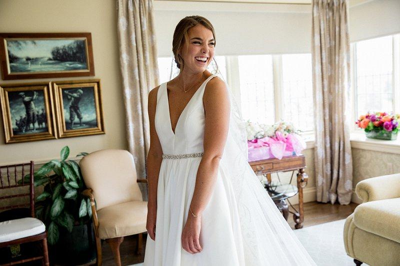 summer bride at hamilton farm golf club