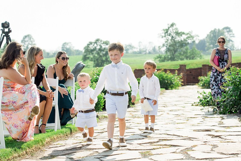 ring bearers summer wedding