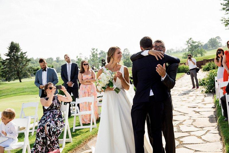 bride giveaway to groom