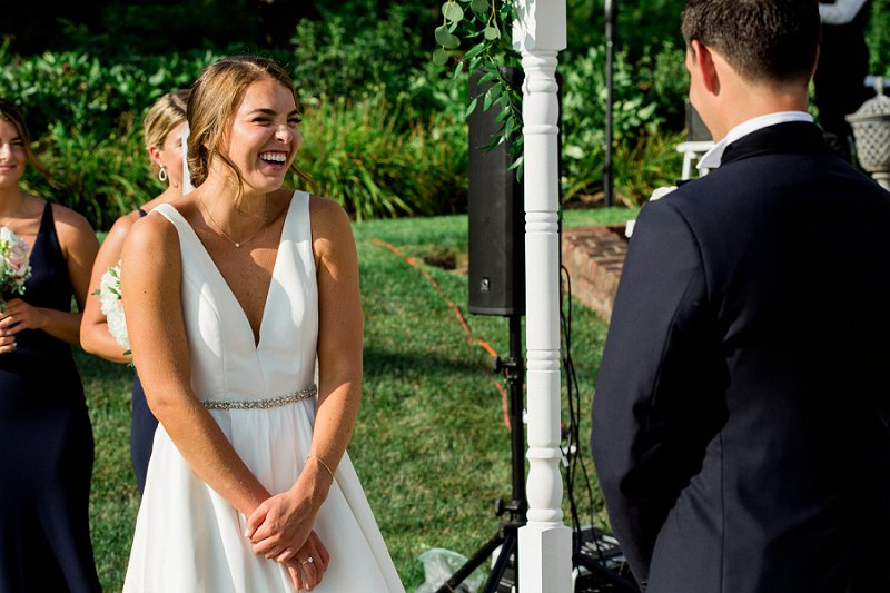 candid moments at ceremony
