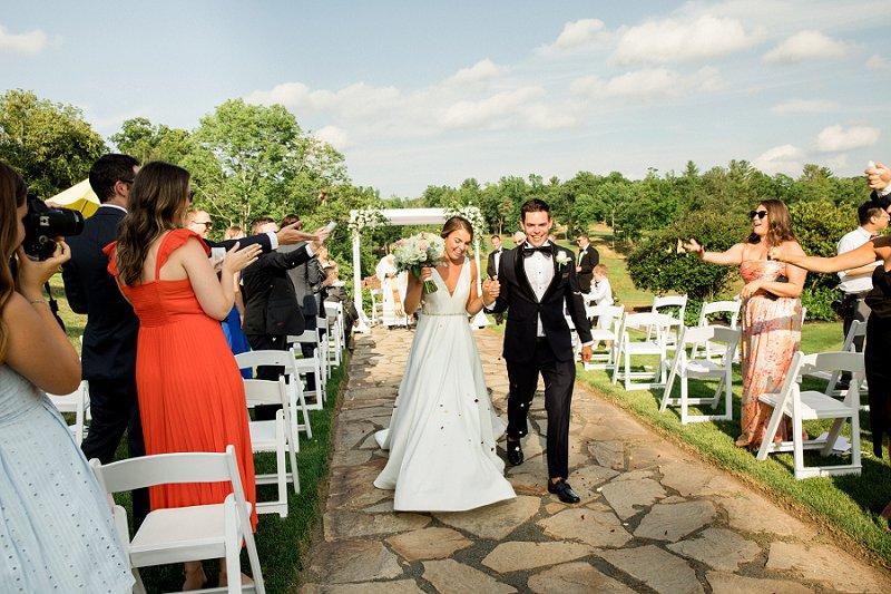 summer wedding at Hamilton farm golf club